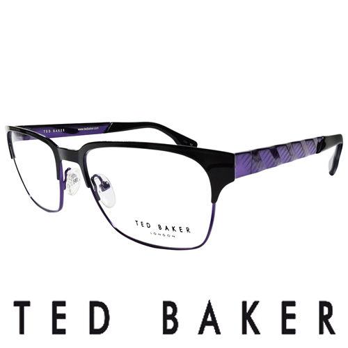 TED BAKER 英倫城市金屬 眼鏡 ^(紫^) TB4195~007