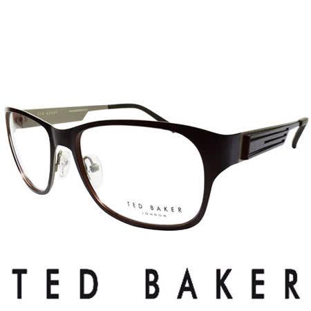 TED BAKER 倫敦玩酷金屬風格造型眼鏡 (咖啡) TB4189-186