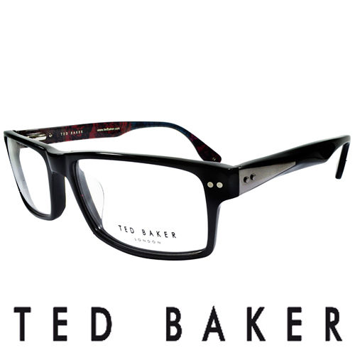TED BAKER 倫敦 都會彩紋 眼鏡 ^(黑^) TB8068~001
