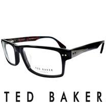 TED BAKER 倫敦個性都會彩紋造型眼鏡 (黑) TB8068-001