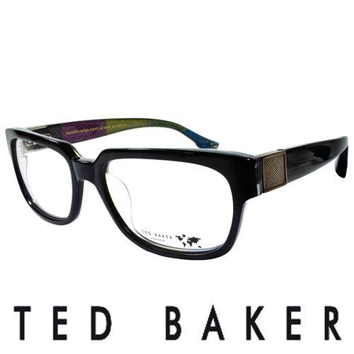 TED BAKER 倫敦 彩紋 眼鏡 ^(黑^) TBG004~099