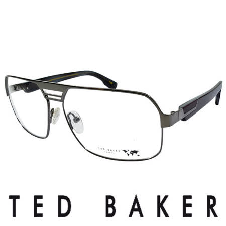 TED BAKER 英倫都會玩酷風格造型眼鏡 (銀) TBG409-986
