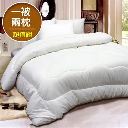 頂級壓花羽絲絨冬被(6*7尺)天絲枕2入超值組台灣精製