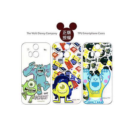 迪士尼授權正版 Disney HTC One M8 透明彩繪軟式保護殼 手機殼(怪獸大學款)