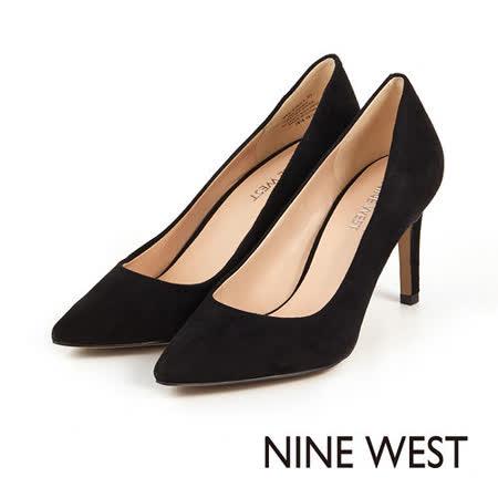 NINE WEST 玩美性感魅力 致命圓潤楦頭高跟鞋 -性感黑