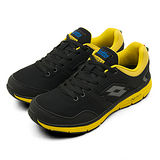 男  LOTTO  輕量慢跑鞋 NUVOLA 2 黑黃 2180