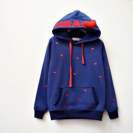 【Maya Collection】Love Code 愛心密碼內裡加絨連帽上衣外套