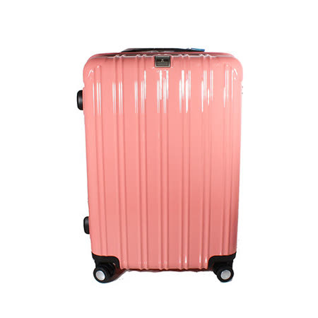 MOM JAPAN 日本品牌 18吋 PC輕量鏡面直線條飛機輪旅行箱 粉紅 MF5008-18-PK