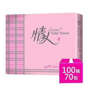 情人 超細柔抽取式衛生紙 100抽X10包X7串/箱