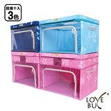 【Love Buy】升級版創意大視窗摺疊收納箱_66L變80L(超值十入)