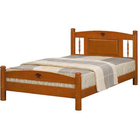 日式量販 復古鄉村風3.5尺實木單人床架