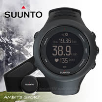【芬蘭 SUUNTO】AMBIT3 SPORT BLACK (HR) GPS 運動款 全功能戶外運動錶_黑