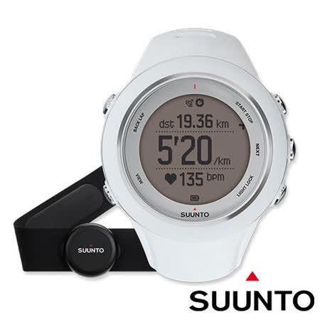 【芬蘭 SUUNTO】公司貨 新款 AMBIT3 SPORT WHITE (HR) GPS 運動款 全功能戶外運動電腦腕錶/ 白