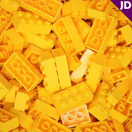 【FY積木大師】300克積木顆粒-黃色