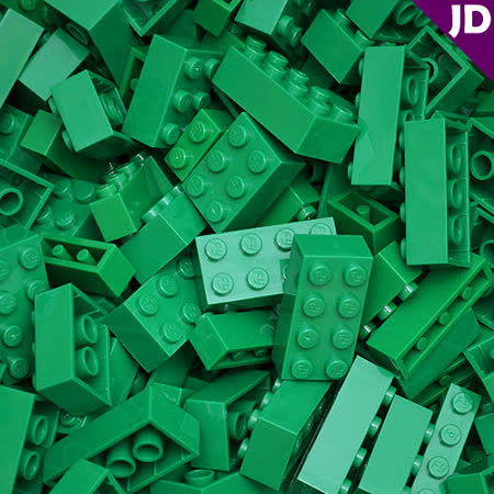 【FY積木大師】300克積木顆粒-綠色