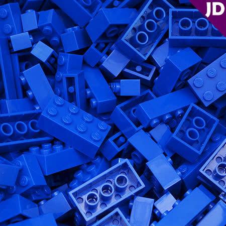 【FY積木大師】300克積木顆粒-藍色