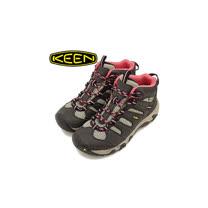 【美國 Keen】女新款 KOVEN MID WP 專業防水透氣中筒健行鞋_灰/粉 1011200