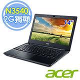 Acer E5-411G-P3NK 14吋 N3540 四核 500G 2G獨顯 筆電–送靜電除塵器+水療按摩器+acer無線鼠
