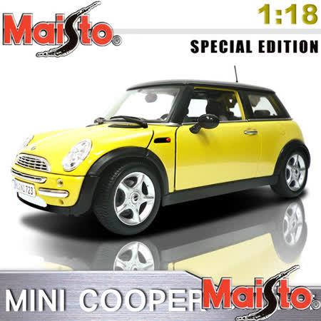 【Maisto】MINI COOPER_SUN ROOF 1:18合金模型車 (黃色)