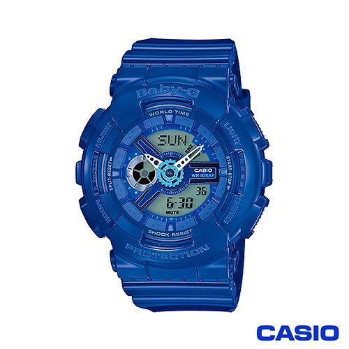~CASIO~ G~SHOCK BABY~G 夏日街頭機械風活力女孩 錶~藍 BA~110