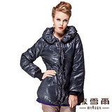 【麥雪爾】荷葉領造型羽絨外套-共兩色