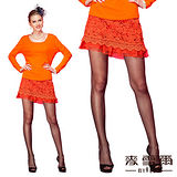 【麥雪爾】蕾絲拼接雪紡短裙-共兩色