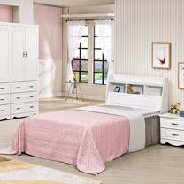 HAPPYHOME 安東尼烤白色3.5尺加大單人床027-5+027-6(床頭+床底)