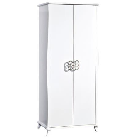 HAPPYHOME 艾蜜麗亮烤白2.7尺衣櫃029-2