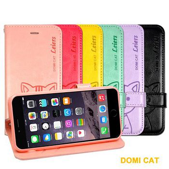 DOMI Apple iPhone 6 可愛貓咪圖騰磁扣式翻頁皮套 Apple iPhone 6 專用
