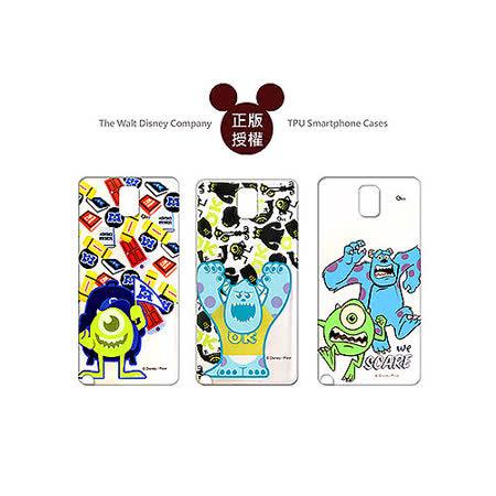 迪士尼授權正版 Disney Samsung GALAXY Note 3 SM-N900 透明彩繪軟式保護殼 手機殼(怪獸大學款)