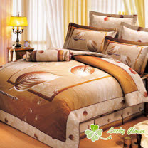 【幸運草】秋葉之戀 雙人高級精梳棉ABC版八件式床罩組