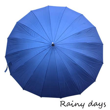 【部落客推薦】gohappy快樂購【Rainy days】16傘骨無敵抗風防潑銀膠手開直傘(深藍)效果如何新光 三越 台南 西門 店