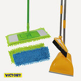 【VICTORY】雪尼爾/平板拖/1拖2布/自動開關/掃把畚斗組