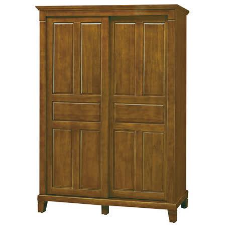 HAPPYHOME 巴比倫黃檀實木5尺衣櫃058-1