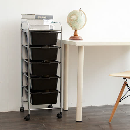 【ikloo】 可移式五層抽屜收納箱/收納盒(2入)