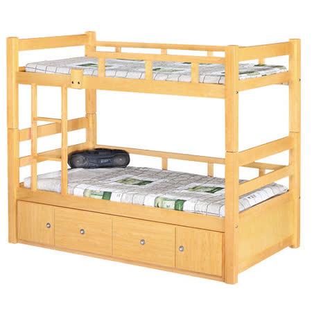 HAPPYHOME 白楓木3.7尺雙層床071-1不含床墊