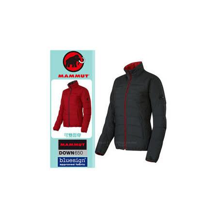 【瑞士 MAMMUT 長毛象】女新款 Blackfin Jacket 雙面穿鵝絨外套/Whitehorn羽絨外套_石墨灰/紅 1010-15540