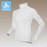 【瑞士 ODLO-送狠大】warm effect 女高領機能型銀離子保暖上衣.衛生衣_白 152011