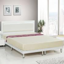 HAPPYHOME 珍珠純白色3.5尺加大單人床081-11+081-12(床頭+床架)