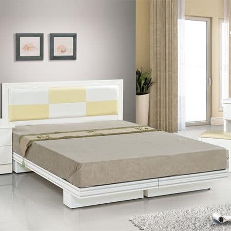 HAPPYHOME 金格純白色3.5尺單人床083-8+083-4(床頭+床架)