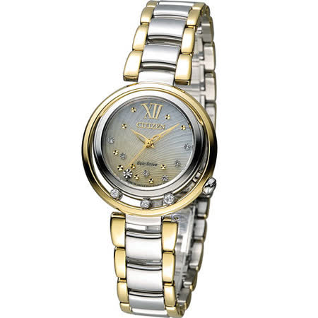 星辰 CITIZEN L 飄鑽魅力光動能腕錶 EM0329-54D