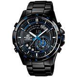 CASIO EDIFICE系列 強大革新雙顯都會腕錶-藍x黑
