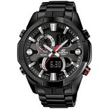 CASIO EDIFICE系列 王者氣焰雙顯計時腕錶-紅針x黑
