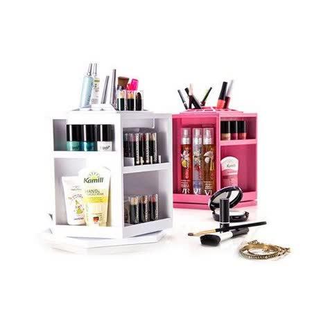 【PS Mall】日韓保養化妝品 收納盒 360度旋轉 拆裝DIY創意桌面收納架 化妝桌 (J1840)