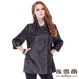 【麥雪爾】貴氣壓花造型七分袖外套