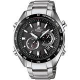 CASIO EDIFICE系列 急速快感獨立賽車運動錶-黑x銀