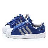 Adidas 男款 三葉草貝殼頭鯊魚造型板鞋M20910-藍