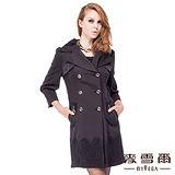 【麥雪爾】雙排釦蕾絲造型風衣外套-共兩色