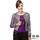 【麥雪爾】時尚簡約豹紋造型外套