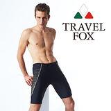 【TRAVELFOX 旅狐】英式風格七分男泳褲加大碼C13915-3L